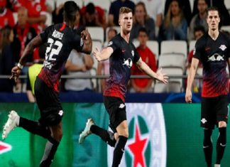 RB Leizig đánh bại Benfica 2-1: Werner ra đòn sấm sét