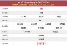 Phân tích KQXS Vĩnh Long 27/3/2020 - XSVL hôm nay