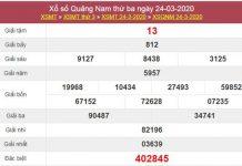 Phân tích XS Quảng Nam 31/3/2020 - KQXSQNM thứ 3