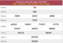 Phân tích XSGL 25/9/2020 thứ 6 cùng siêu cao thủ