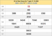 Phân tích XSHG ngày 07/11/2020 - xổ số hậu giang cùng chuyên gia