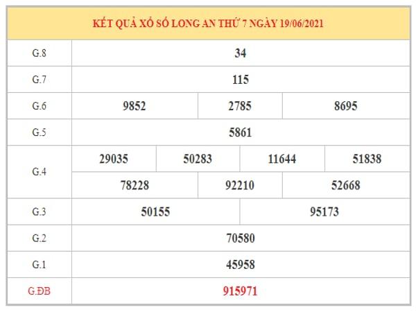 Phân tích KQXSLA ngày 26/6/2021 dựa trên kết quả kì trước